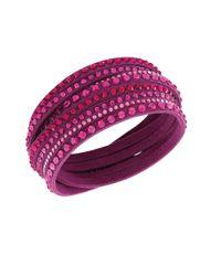 Swarovski | Pink Slake Fuchsia Crystal Wrap Bracelet | Lyst