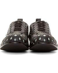 Comme des Garçons - Black Punctured Polka Dot Oxfords - Lyst