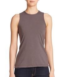 James Perse | Brown Wrap-back Tank Top | Lyst