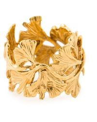 Aurelie Bidermann - Metallic Ginkgo Ring - Lyst