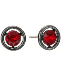 COACH | Red Halo Stud Earring | Lyst