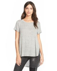 Project Social T | Gray Lightweight Crewneck Side Split Tee | Lyst