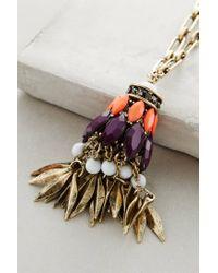 Anthropologie - Orange Lure Pendant Necklace - Lyst