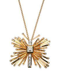 Emanuel Ungaro | Metallic Butterfly Pendant Necklace | Lyst