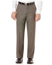 Perry Ellis - Natural Portfolio Straight-fit Plaid Dress Pants for Men - Lyst