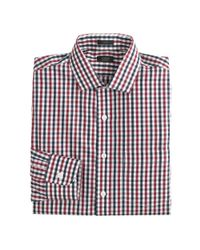 J.Crew - Blue Slim Traveler Dress Shirt in Vintage Check for Men - Lyst