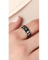 Marc By Marc Jacobs - Black Dreamy Logo Band Ring - Lyst