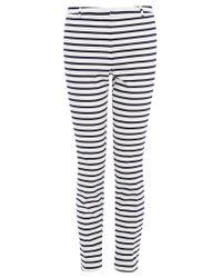 Oasis - Multicolor Stripe Cotton Trousers - Lyst