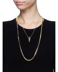 Eddie Borgo | Metallic Pavé Stud Chain And Urn Pendant Necklace Set | Lyst