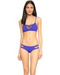 L*Space | Blue Estella Bikini Bottoms | Lyst