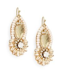 Saks Fifth Avenue | Metallic Jeweled Drop Earrings | Lyst