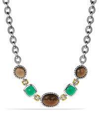 David Yurman - Metallic Viridian Necklace With Smoky Quartz, Green Onyx, And Gold - Lyst