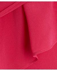 2nd Day - Pink Pleat Detail Silk Dress - Lyst