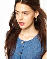 Zoe & Morgan | Metallic Zoe Morgan Cobra Hoop Earrings | Lyst