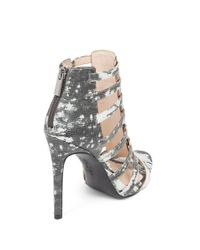 Jessica Simpson - Gray Riahn Leather Cage Heels - Lyst
