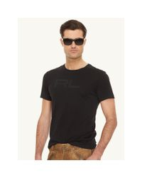 Ralph Lauren Black Label - Black Logo Pima Cotton T-shirt for Men - Lyst