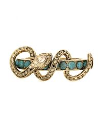 Roberto Cavalli - Metallic Crystal Embellished Bracelet - Lyst