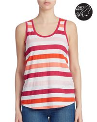 Lord & Taylor | Pink Striped Tank Top | Lyst