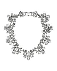 Mews London | Metallic Crystal Collar Necklace | Lyst
