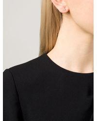 Wwake | Yellow Small Opal Triangle Earrings | Lyst