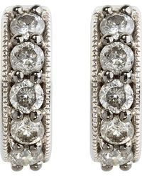 Annoushka | Gray Dusty Diamonds 18ct White-gold And Diamond Hoop Earrings | Lyst