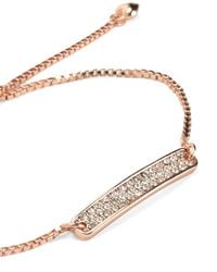 Juicy Couture | Metallic Pave Id Chain Bracelet | Lyst