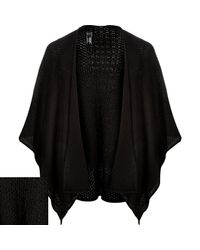 River Island - Black Textured Mesh Cape for Men - Lyst