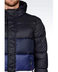 Armani Jeans | Black Down Coat for Men | Lyst