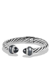 David Yurman | Metallic Cable Classics Bracelet With Hematine | Lyst