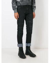 Belstaff - Black Ribbed Panel Jeans for Men - Lyst