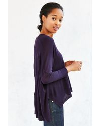 Pins And Needles - Blue Fine-gauge Miles V-neck Top - Lyst