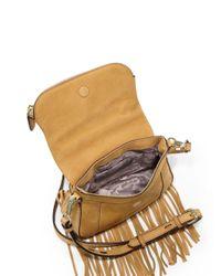 Rebecca Minkoff - Natural Crosby Mini Fringed Nubuck Saddle Bag - Lyst