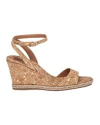 Tory Burch   Natural Marion Cork Wedge Sandals   Lyst