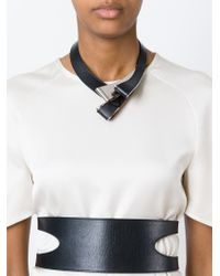 Marni | Black Structured Loop Necklace | Lyst