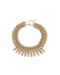 Adia Kibur | Metallic Chain Choker Necklace - Gold | Lyst