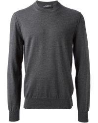 Dolce & Gabbana - Gray Crew Neck Sweater for Men - Lyst