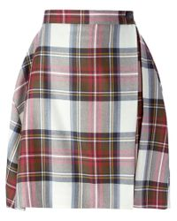 Vivienne Westwood Anglomania - Multicolor Plaid Paneled Skirt - Lyst