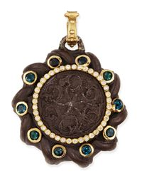 Armenta | Brown Old World Spiral Coin Locket With Tourmaline & Diamonds | Lyst