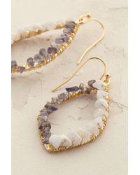 Anthropologie | Blue Moonglow Teardrop Earrings | Lyst