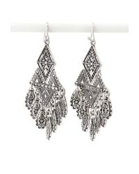 Forever 21 | Metallic Tribal-Inspired Drop Earrings | Lyst
