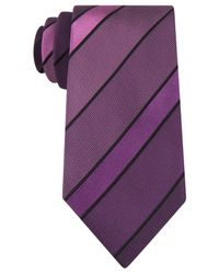 Kenneth Cole Reaction | Purple Vermont Stripe Tie for Men | Lyst