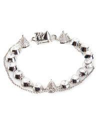 Eddie Borgo | Metallic Pave Gemstone Swag Bracelet | Lyst