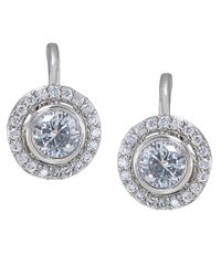 Carolee - Metallic The Erin Crystal Button Clip Earrings - Lyst