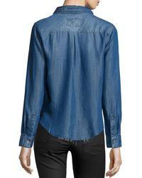 Rails - Blue Carter Cutoff Chambray Shirt - Lyst