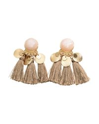 H&M | Metallic Earrings With Tassels | Lyst