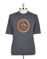 Original Penguin | Gray Stretch Activewear Tee for Men | Lyst