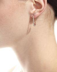 Anita Ko - Pink 18k Rose Gold Diamond Safety Pin Earring - Lyst