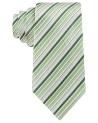 Geoffrey Beene - Green Stripe Done Right Tie for Men - Lyst