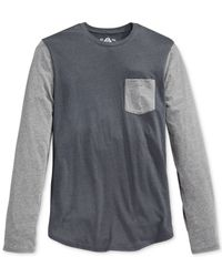 American Rag - Gray Colorblocked Jersey Raglan T-shirt for Men - Lyst