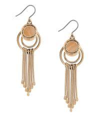 Lucky Brand - Metallic Goldtone Horn Paddle Drop Earrings - Lyst